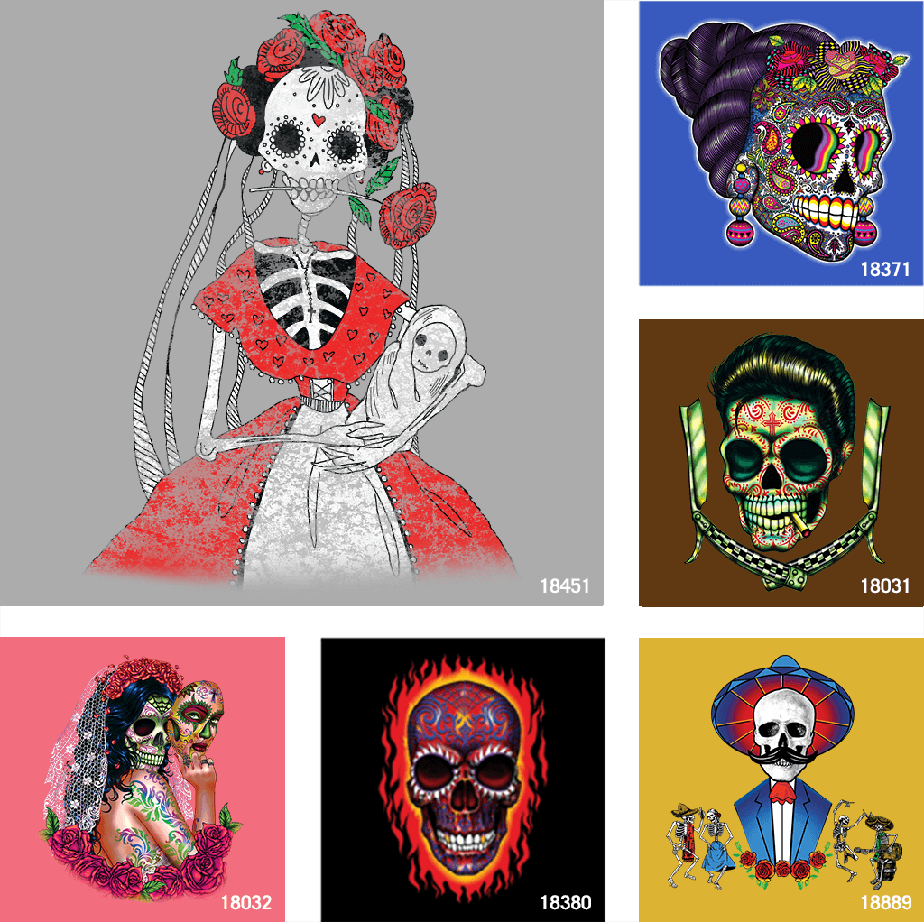 Day of the Dead t shirt designs