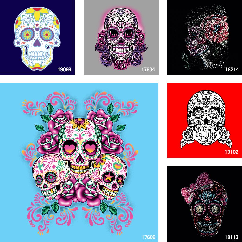 Sugar Skull t shirt designs