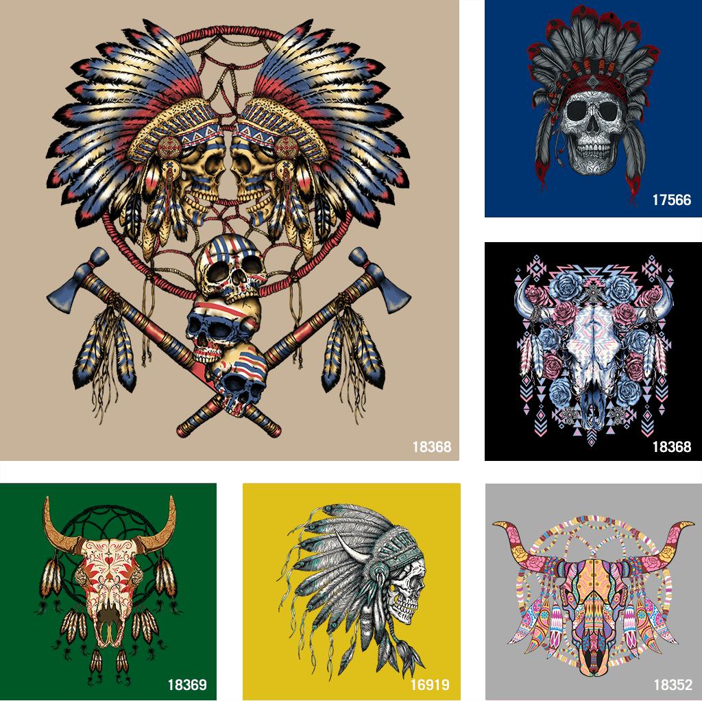 Indian Skull T shirt designs