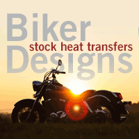 Biker Stock Heat Transfer Designs