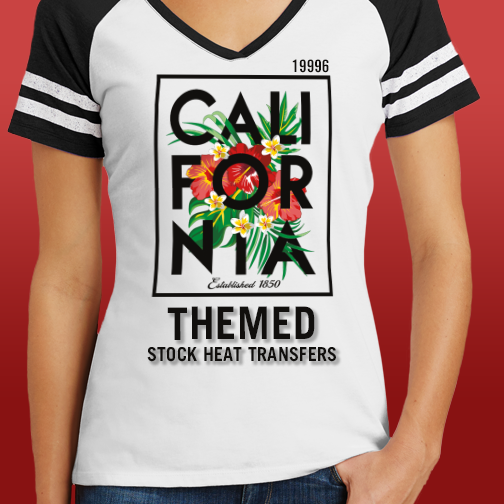 Browse California T Shirt Stock Heat Transfer Designs