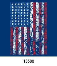 Distressed Flag Patriotic Heat Press Transfers