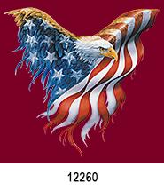 Eagle flag Patriotic Heat Press Transfers