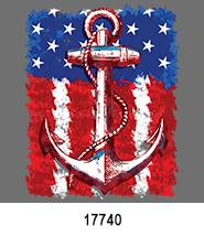 Anchor Flag Patriotic Heat Press Transfers