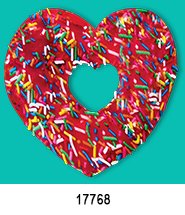 heart shaped donut heat press transfers