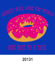 save the world donut heat press transfers