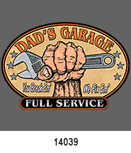 father's day stock heat transfers with dad's garage design