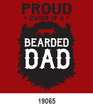 father's day stock heat transfers bearded dad