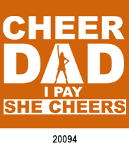 father's day stock heat transfers Cheer Dad