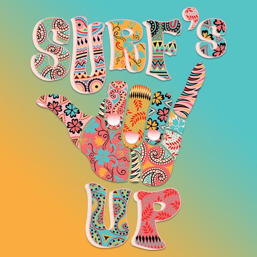 Surf's Up T-Shirt Design Idea