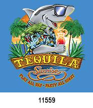 Tequila Shark T-Shirt Design Idea
