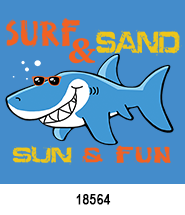 Shark Sun Fun T-Shirt Design Idea