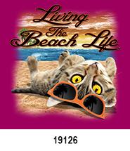 Cat Beach Life T-Shirt Design Idea