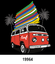 Surf Bus T-Shirt Design Idea