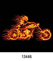 Flame Rider T-Shirt Transfer Design