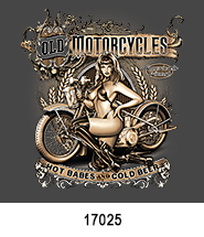 Old Cycles T-Shirt Transfer Design