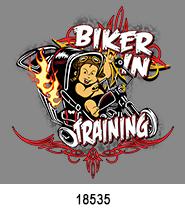 In Training Biker T-Shirt Transfer Design