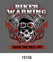 Warning Biker T-Shirt Transfer Design
