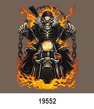 Skeleton Chains Biker T-Shirt Transfer Design