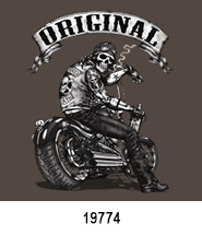 The OG Biker Skeleton T-Shirt Transfer Design