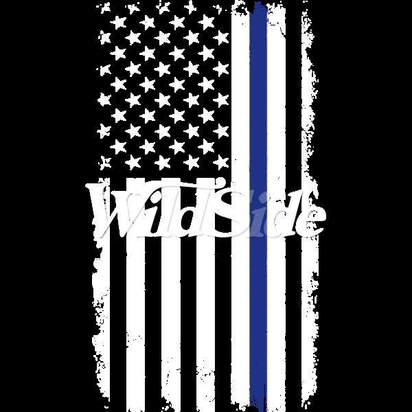 BLUE LINE DISTRESS US FLAG W/PKT STOCK TRANSFER