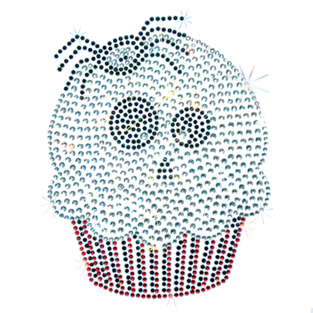 GHOST WITH SPIDER CUPCAKE STONES