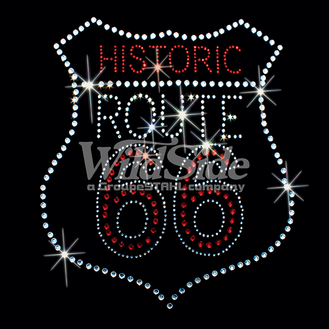 HISTORIC ROUTE 66 - CLEAR & RED STONES