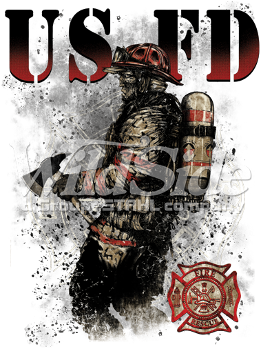 USFD FIREFIGHTER WITH SHIELD