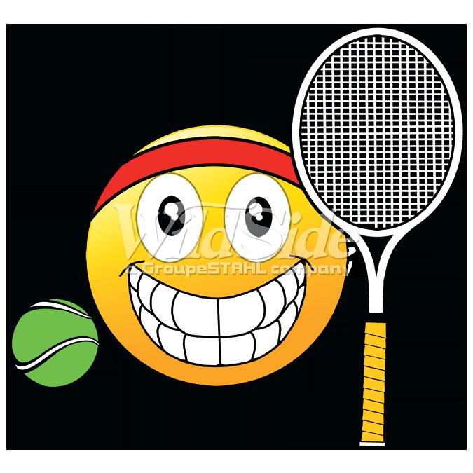 Emoji Tennis Ball Racquet The Wild Side