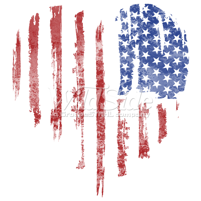 american flag heart vertical the wild side
