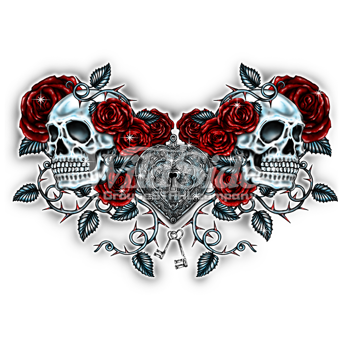 Skulls Roses And Key Heart The Wild Side